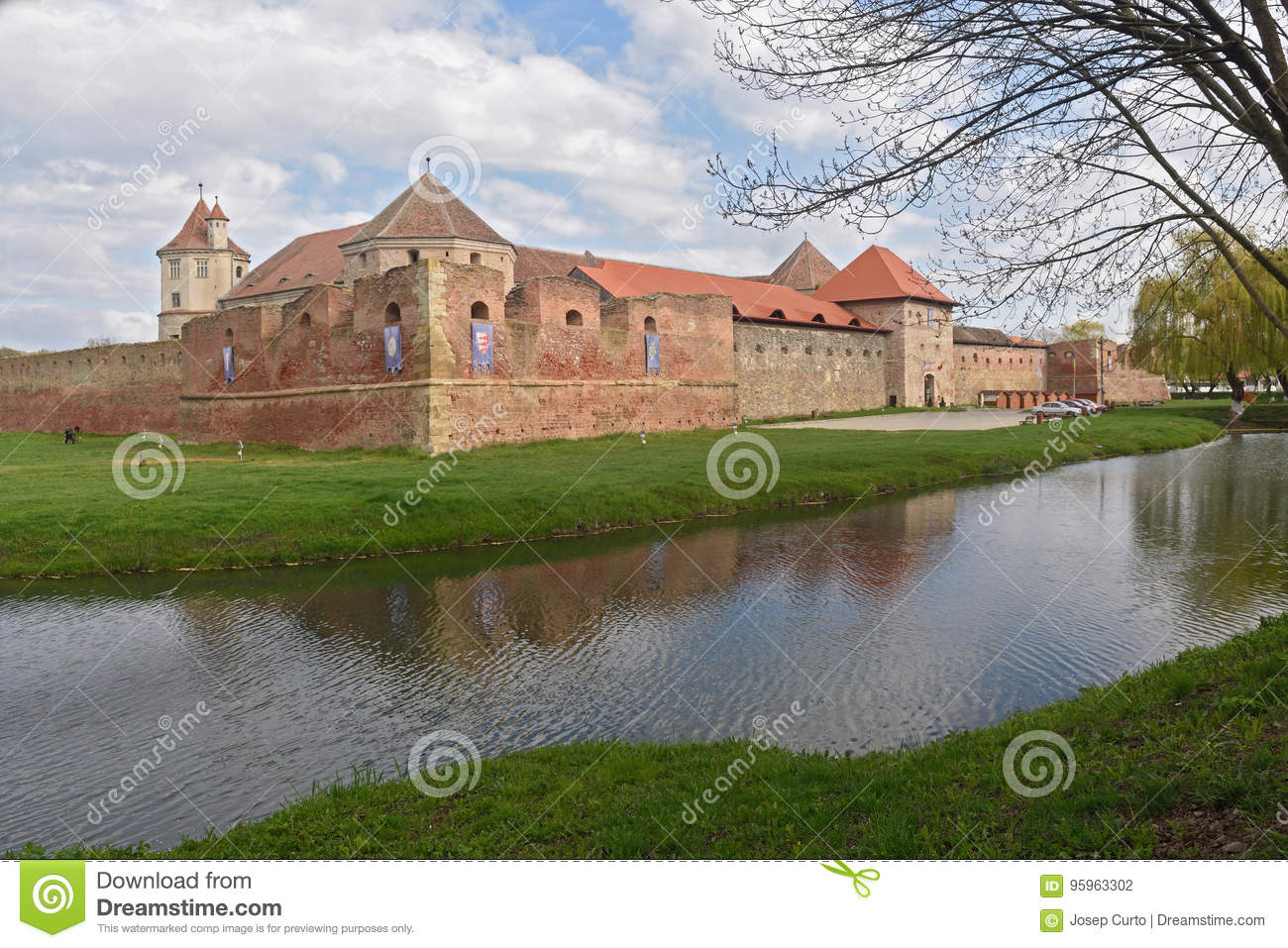 Fagaras Fortress in Brasov County, Romania