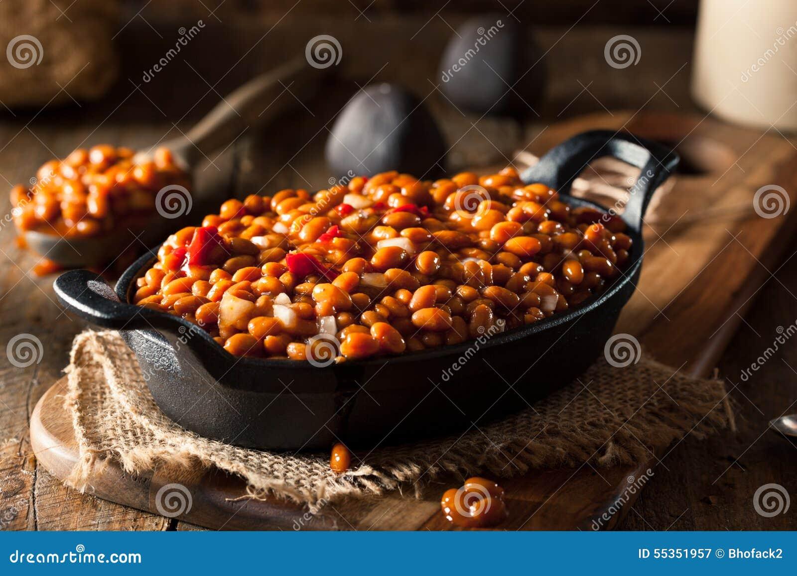 Fagioli in salsa casalinghi del barbecue