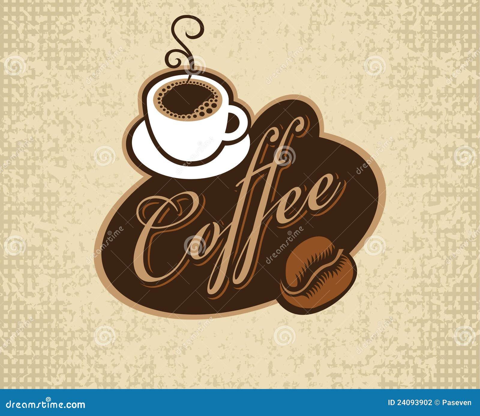 Fahne mit Beschreibungkaffee