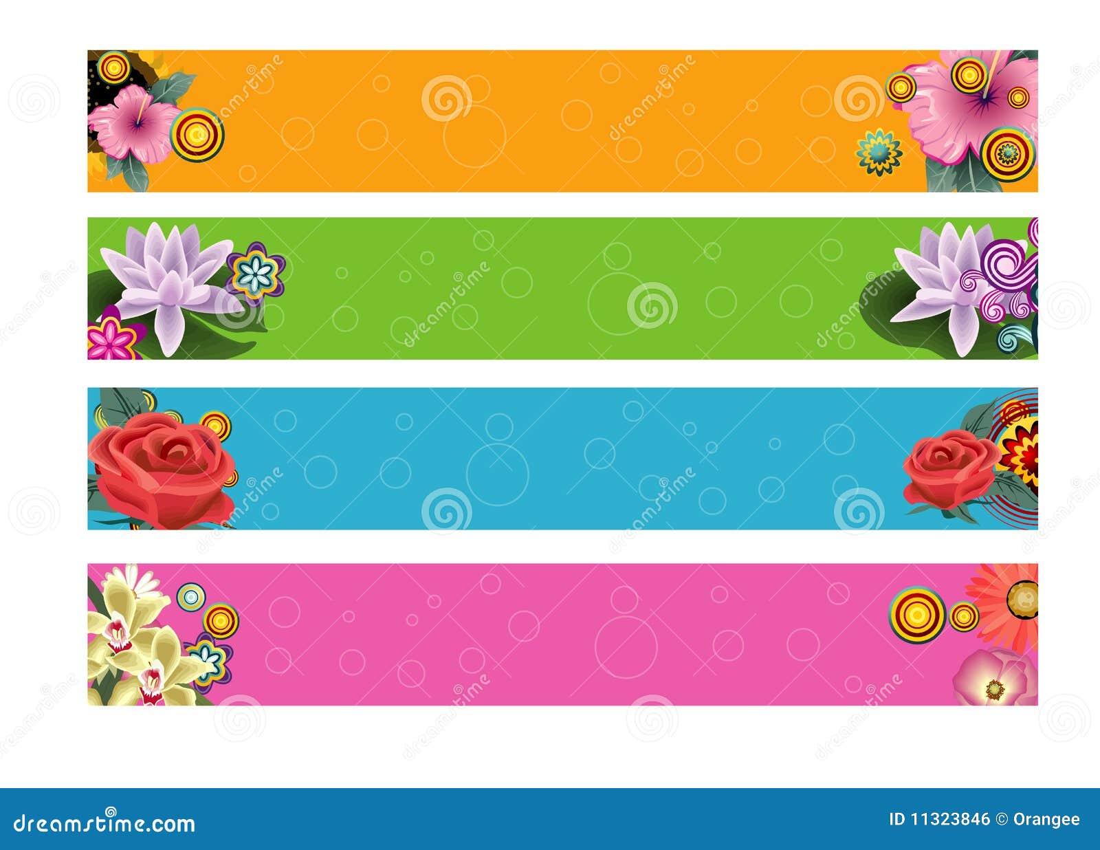 Fahnen mit Blumen