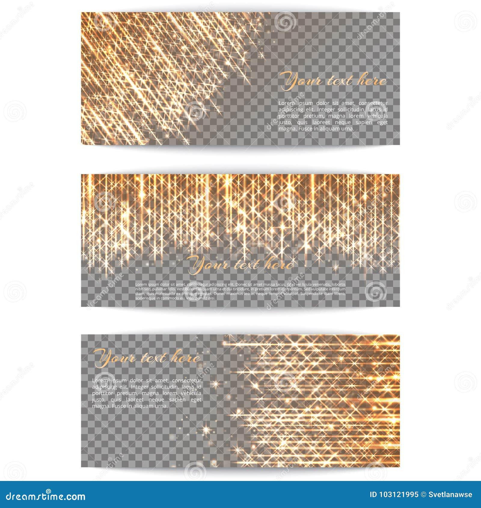 Fahnen mit hellen goldenen Strahlen