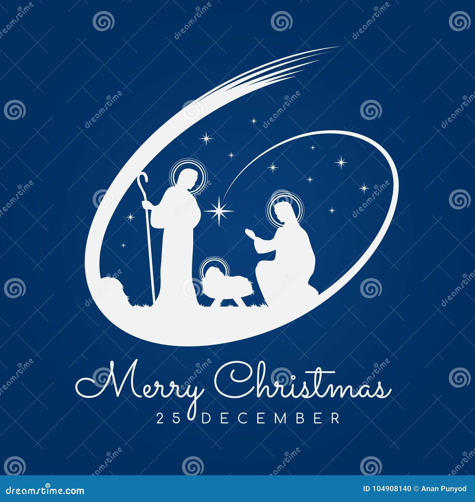Frohe Weihnachten Jesus.Fahnenzeichen Der Frohen Weihnachten Mit Nachtlicher