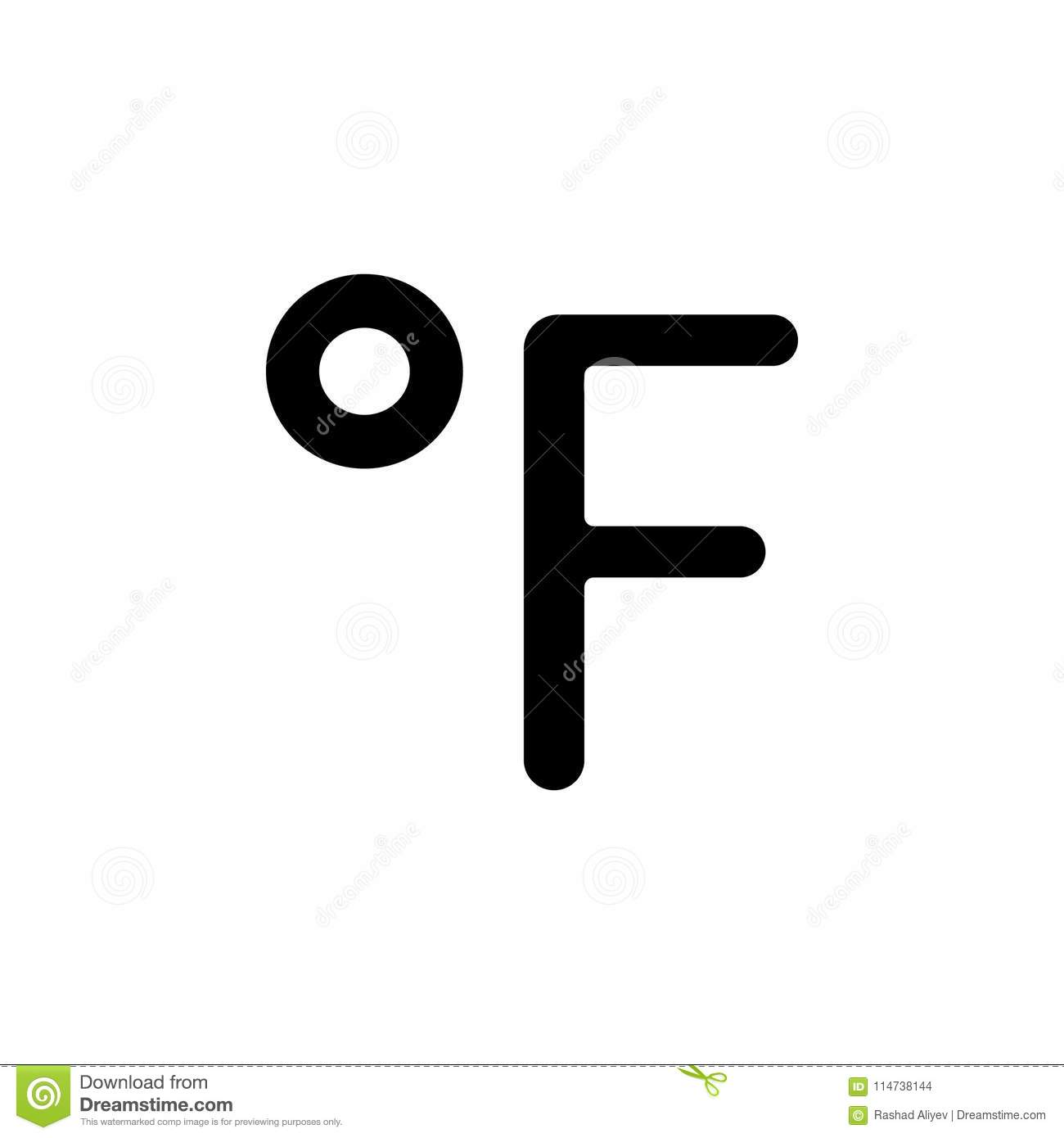 Fahrenheit Sign Icon Element Of Minimalistic Icon For Mobile