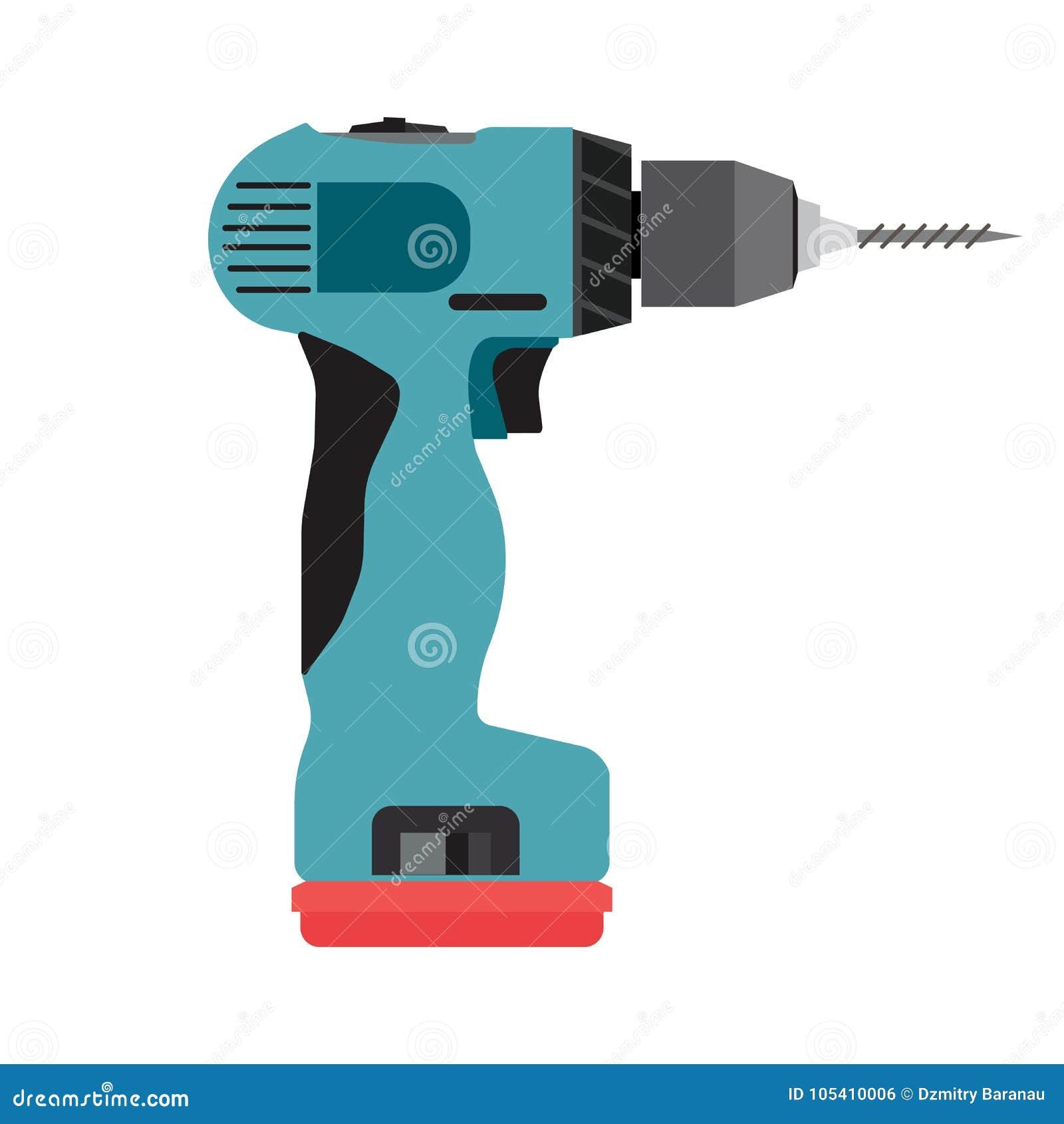 Fahrerelektrowerkzeug des drahtlosen Vektors der Bohrgerätikone elektrisches Bauschraubenzieher-Handarbeitsbohrung