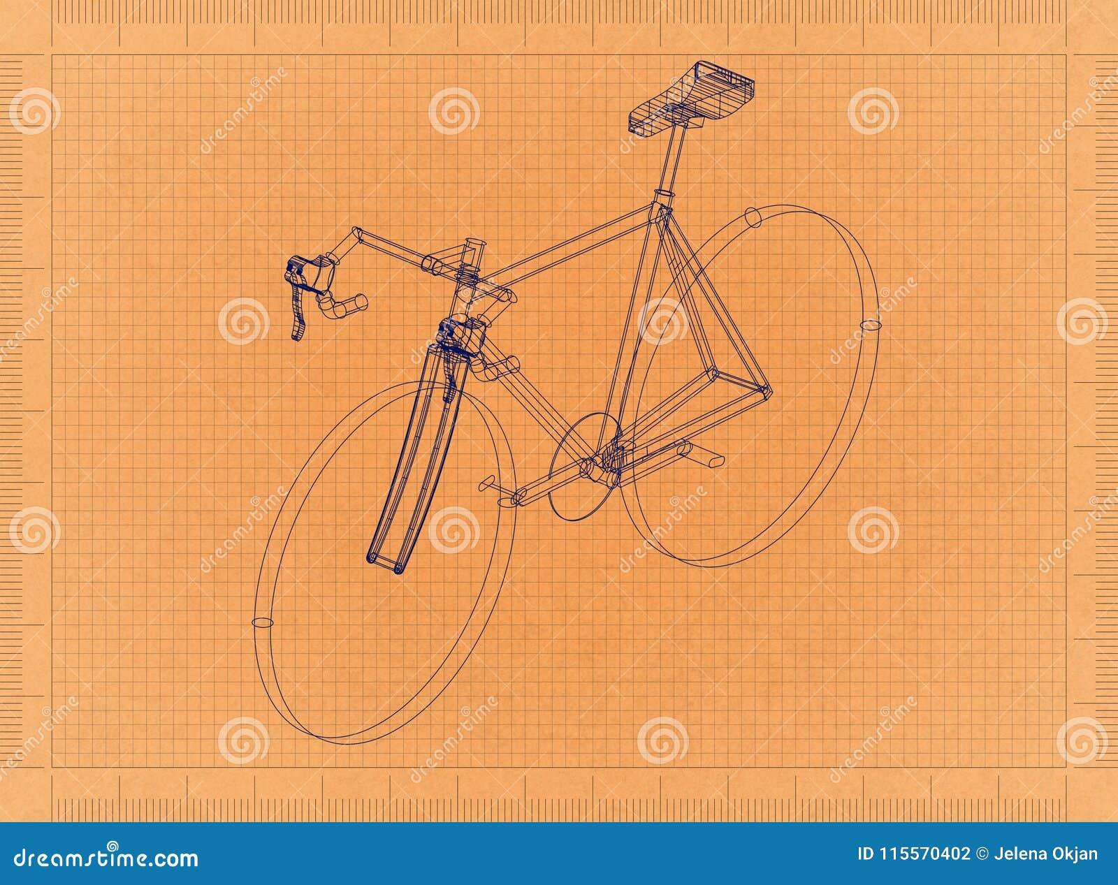 Fahrrad - Retro- Plan