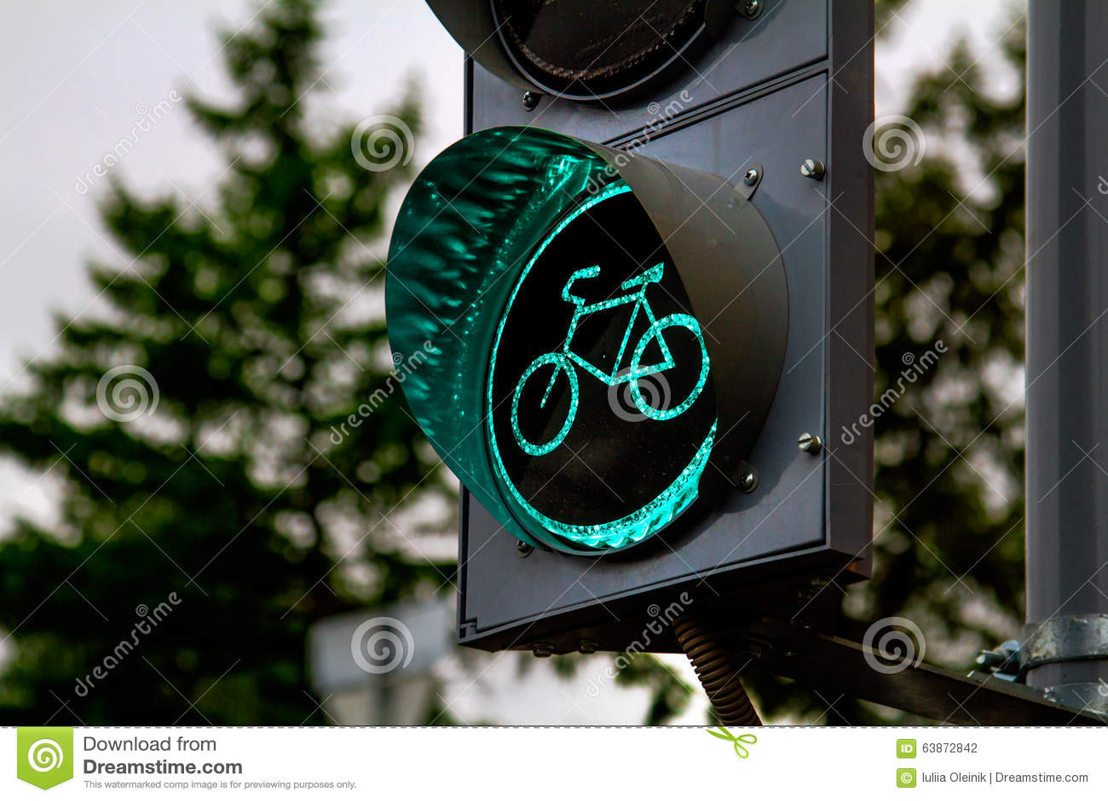 Fahrradampel Stockfoto Bild Von Outdoor Grau Achtung 63872842