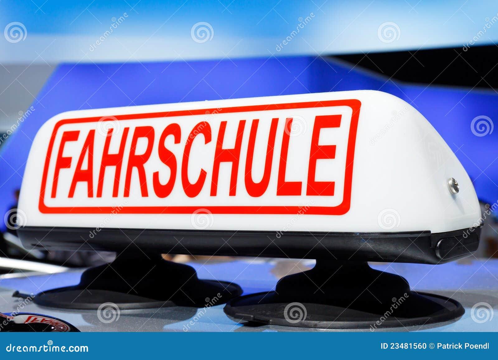 Fahrschule (Driving School) Sign