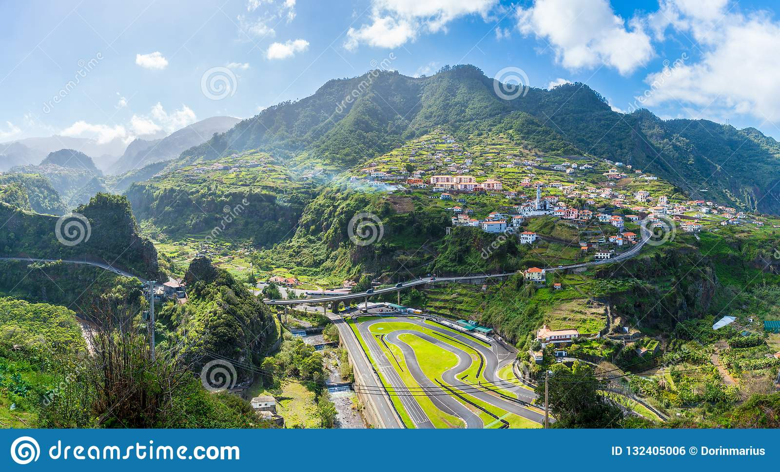 madeira kart Faial Village And Go kart Track, Madeira Island, Portugal Stock