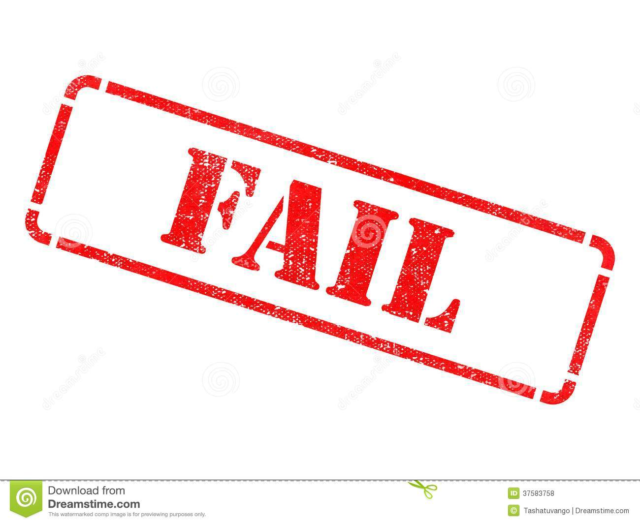 Fail inscription on red rubber stamp royalty free stock for Www famil
