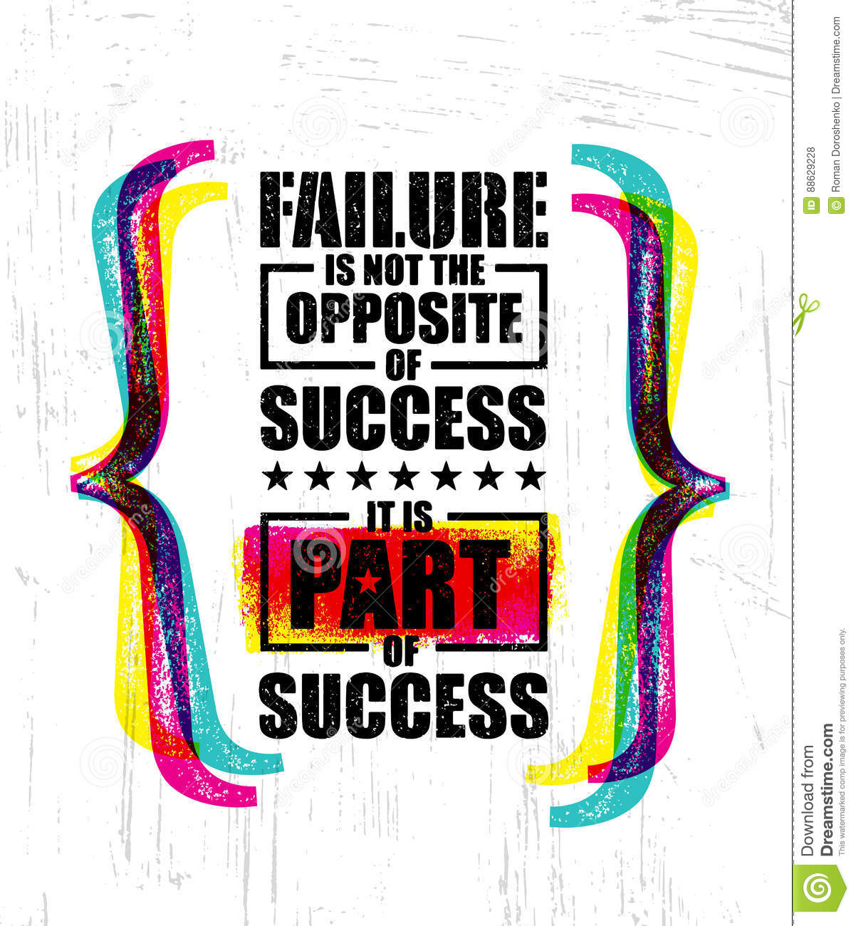 Motivational Quotes About Success: Failure Is Not The Opposite Of Success. It Is Part Of