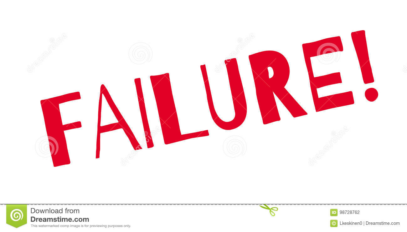 Failure Rubber Stamp Stock Vector Illustration Of Reject