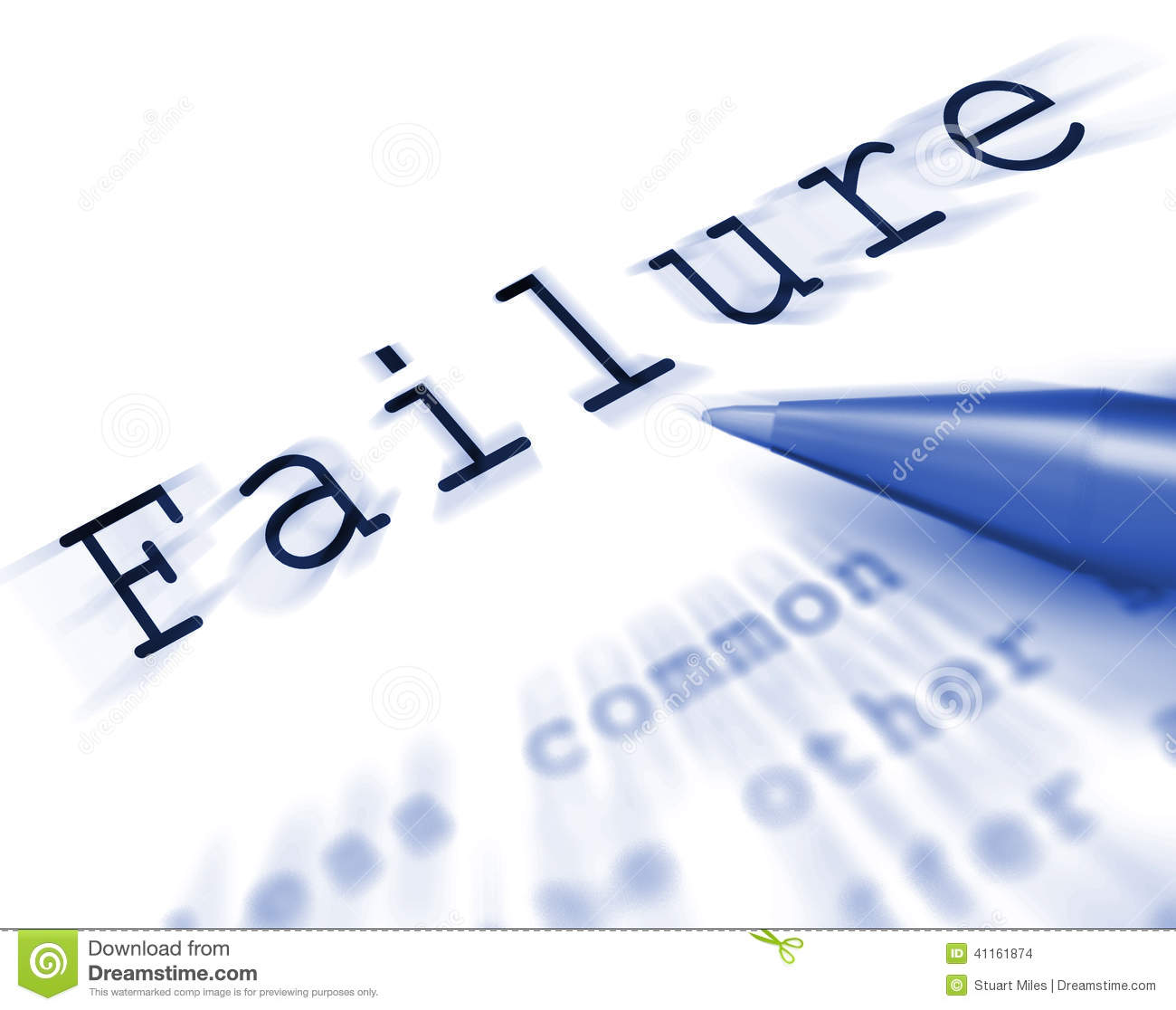 Failure Word Displays Inept Unsuccessful Or Lacking Stock ...