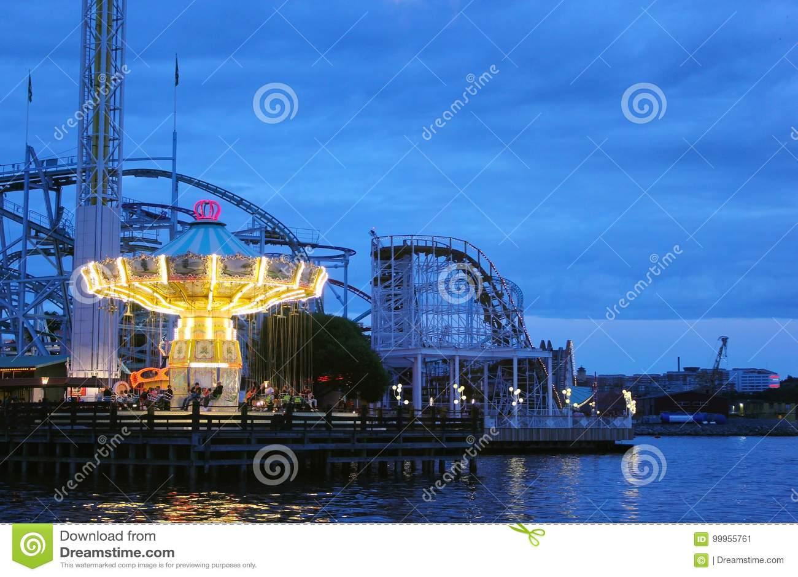 Fair at night in stockholm