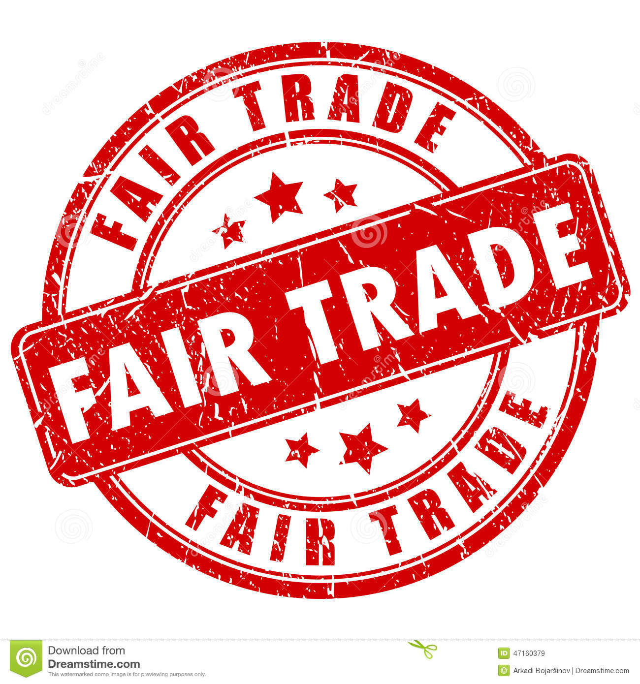 Fair Trade Stamp Stock Vector Image 47160379