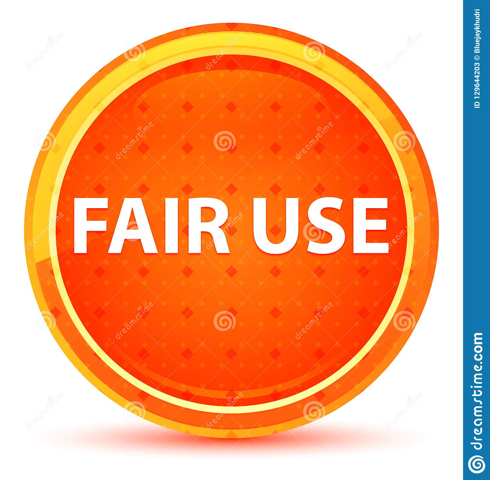 Fair Use Natural Orange Round Button