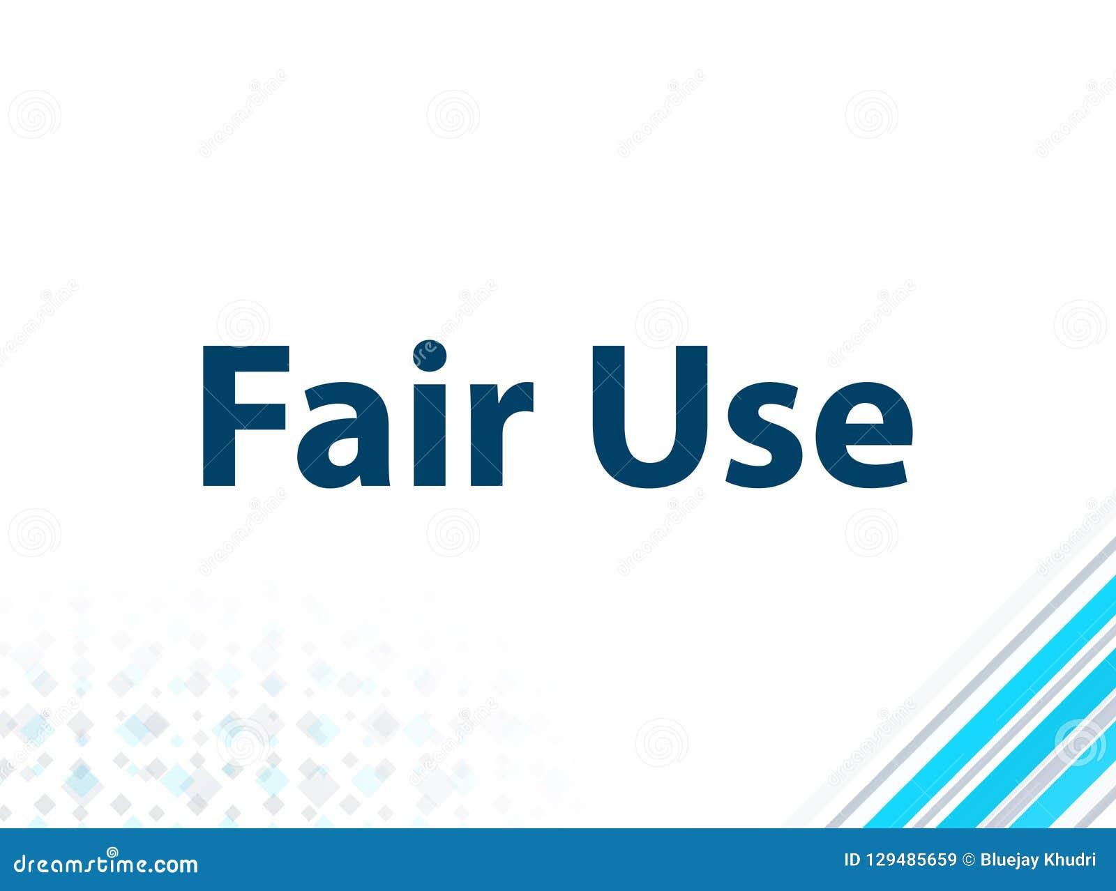 Fair Use Modern Flat Design Blue Abstract Background