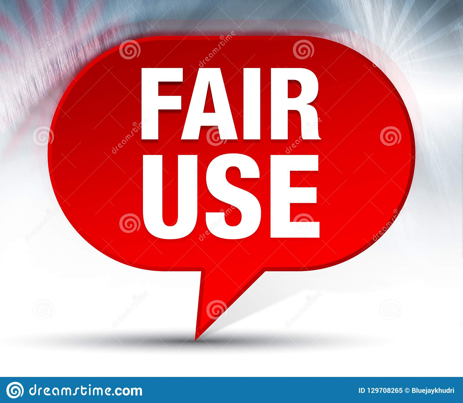 Fair Use Red Bubble Background