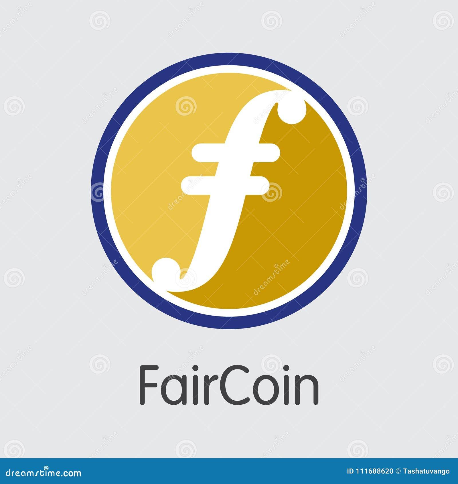 Faircoin Virtual Currency Coin Image Stock Vector Illustration