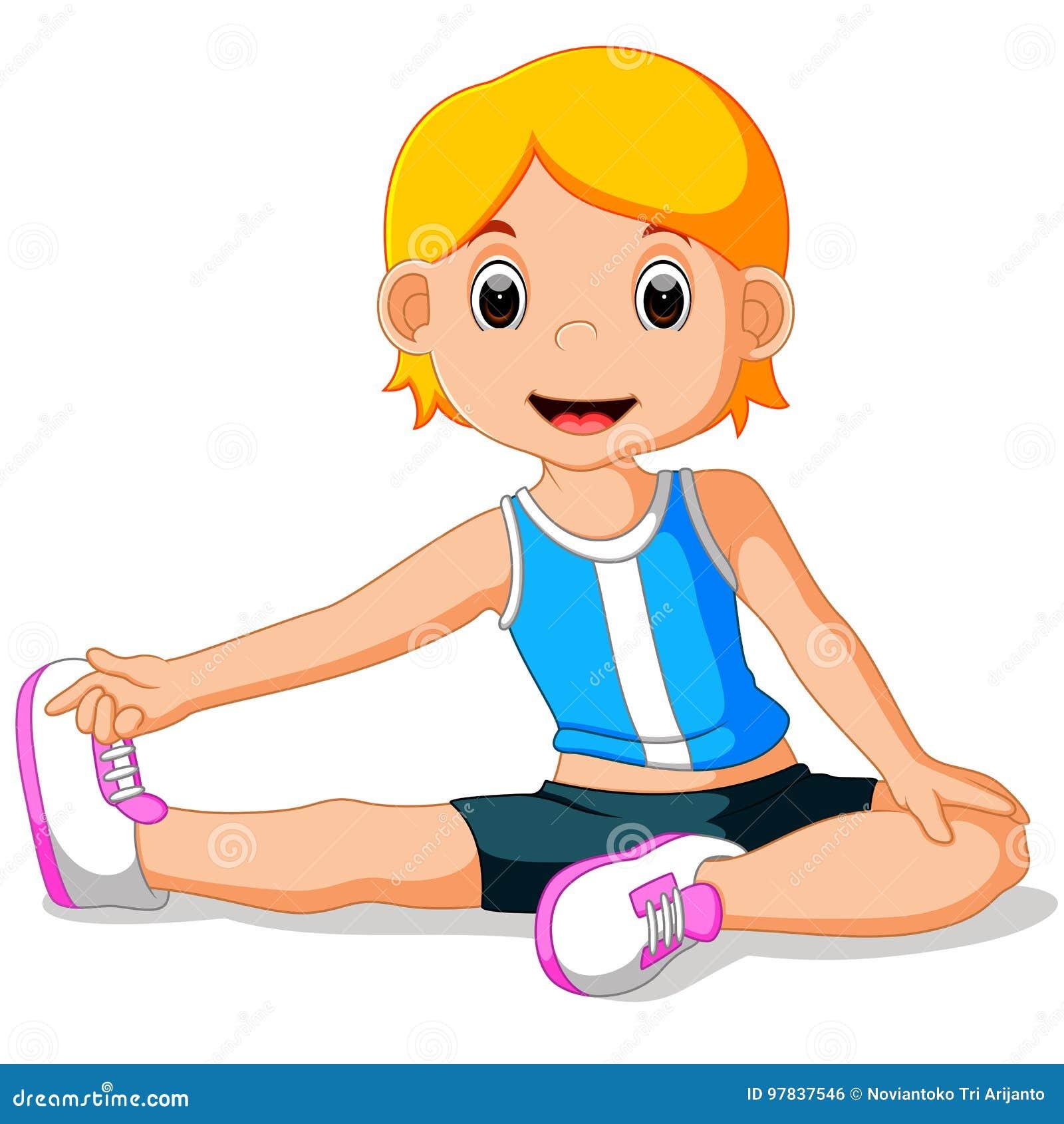 Faire des jeunes de yoga de fille