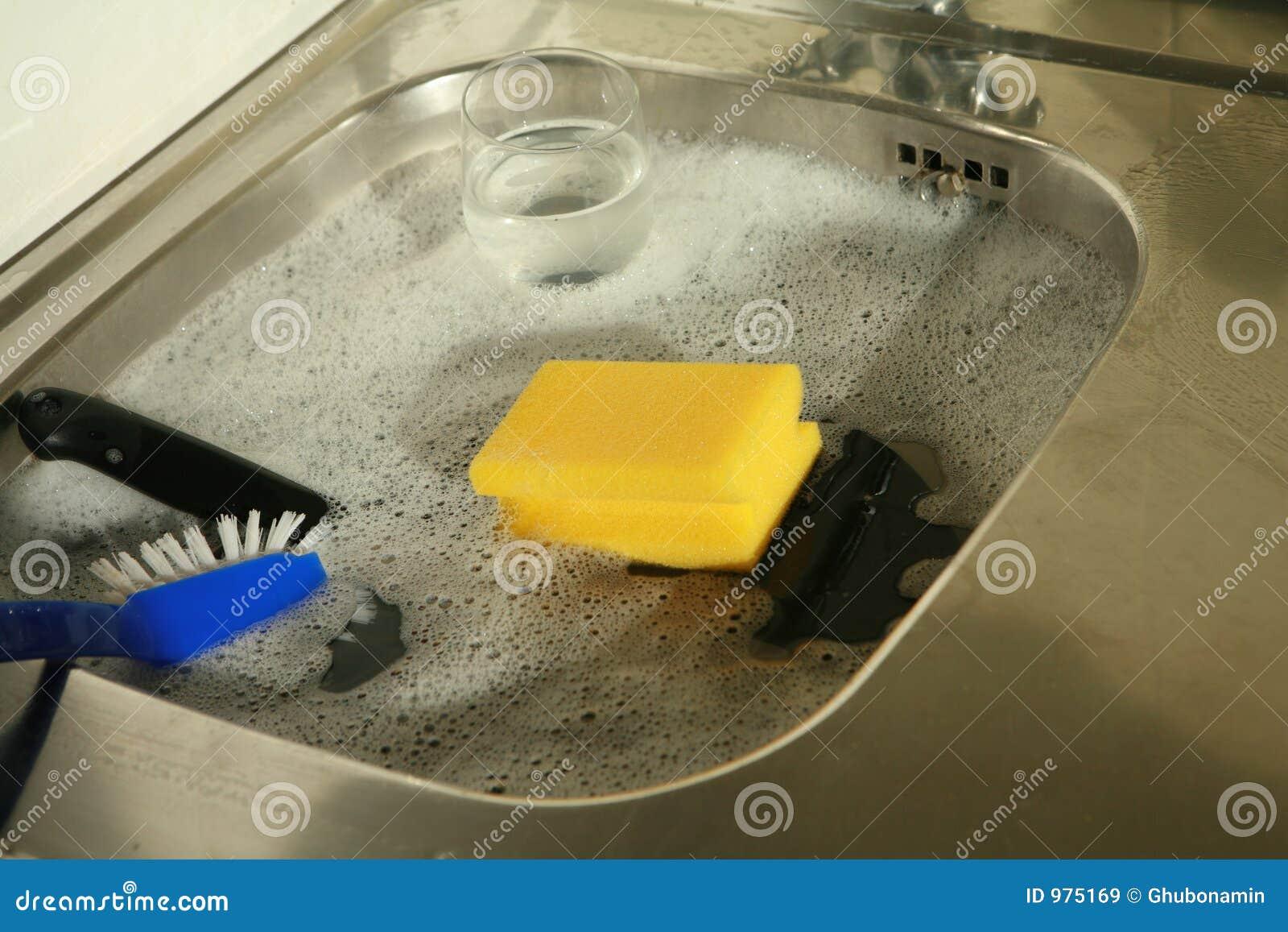 faire la vaisselle image stock image du hygi ne assiette 975169. Black Bedroom Furniture Sets. Home Design Ideas