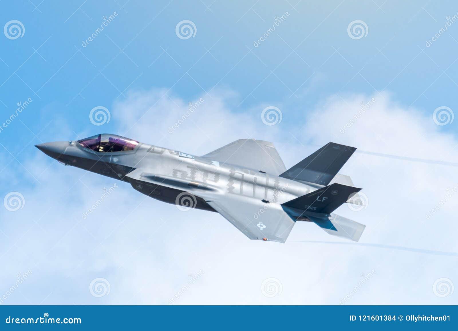 FAIRFORD, HET UK, 13 JULI 2018: Een foto die Lockheed documenteren