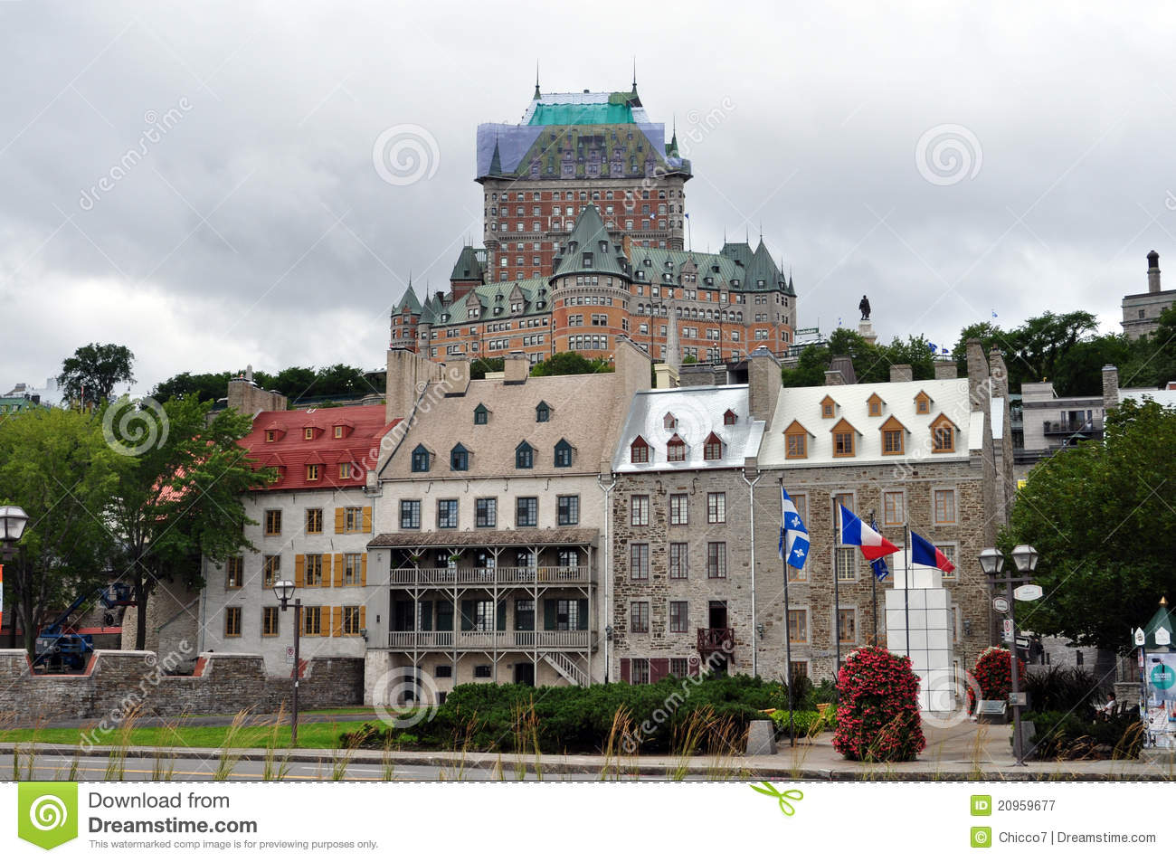 Fairmont hotel at quebec city canada royalty free stock for Hotel design quebec