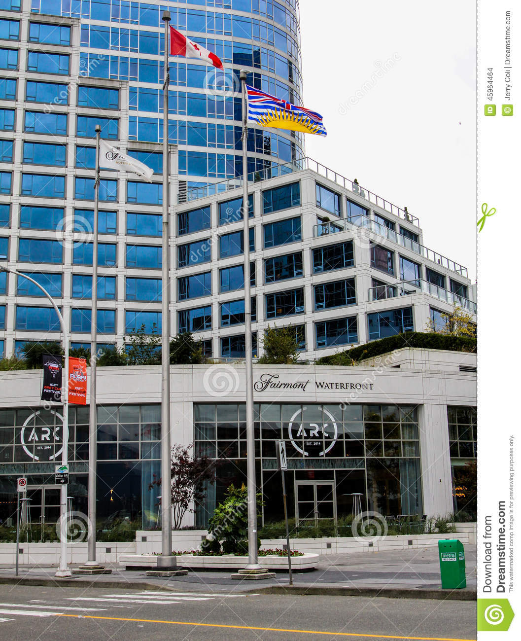 Fairmont Waterfront Hotel Vancouver Bc Editorial Stock Image Image 45964464