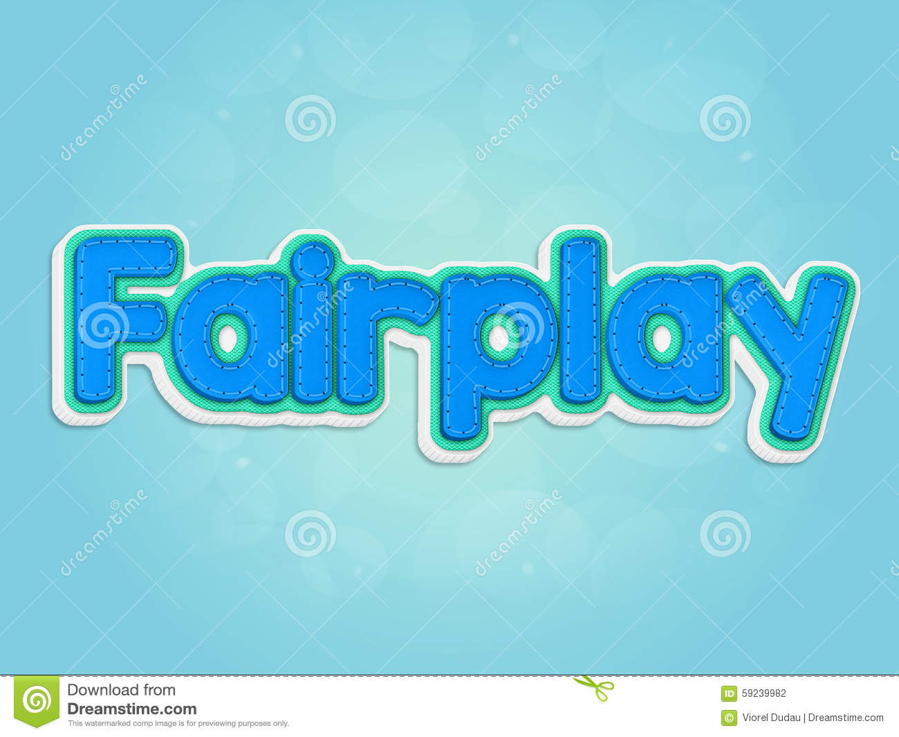 Download Fairplay stock de ilustración. Ilustración de palabra - 59239982