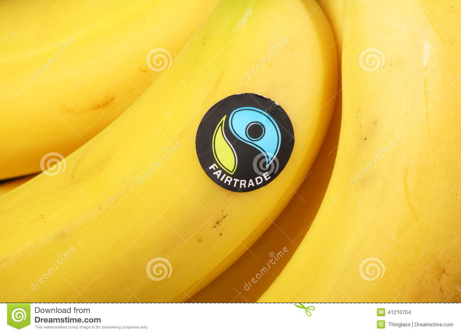 Fairtrade Sticker Editorial Stock Image
