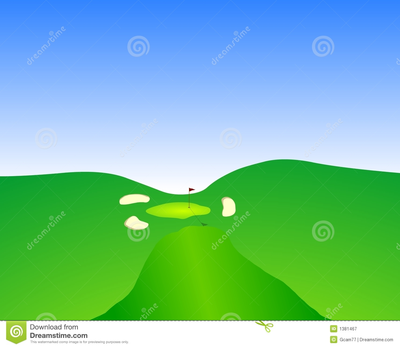 Fairway Approach Royalty Free Stock Photography Image