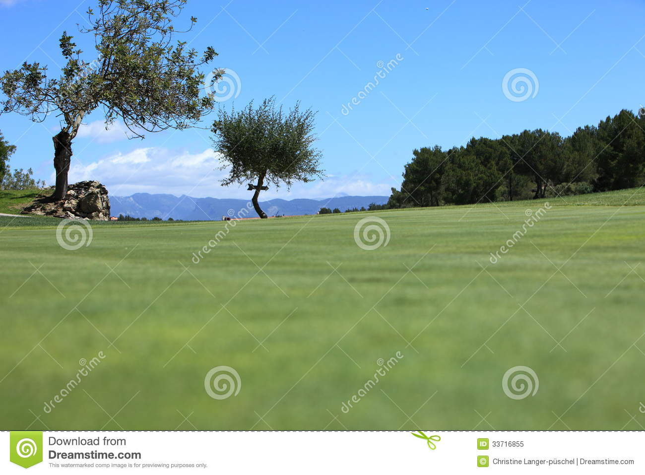 Fairway On A Golf Course Royalty Free Stock Photo Image