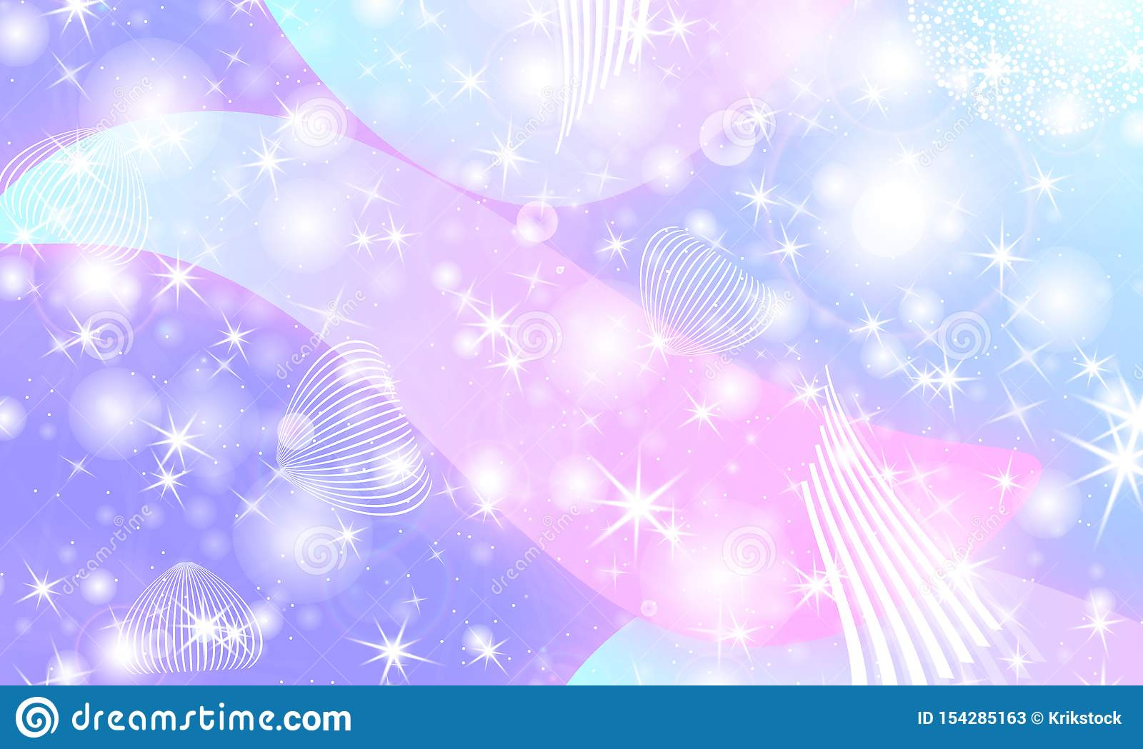 fairy background unicorn pattern princess rainbow galaxy mermaid fantasy stars pastel colors 154285163