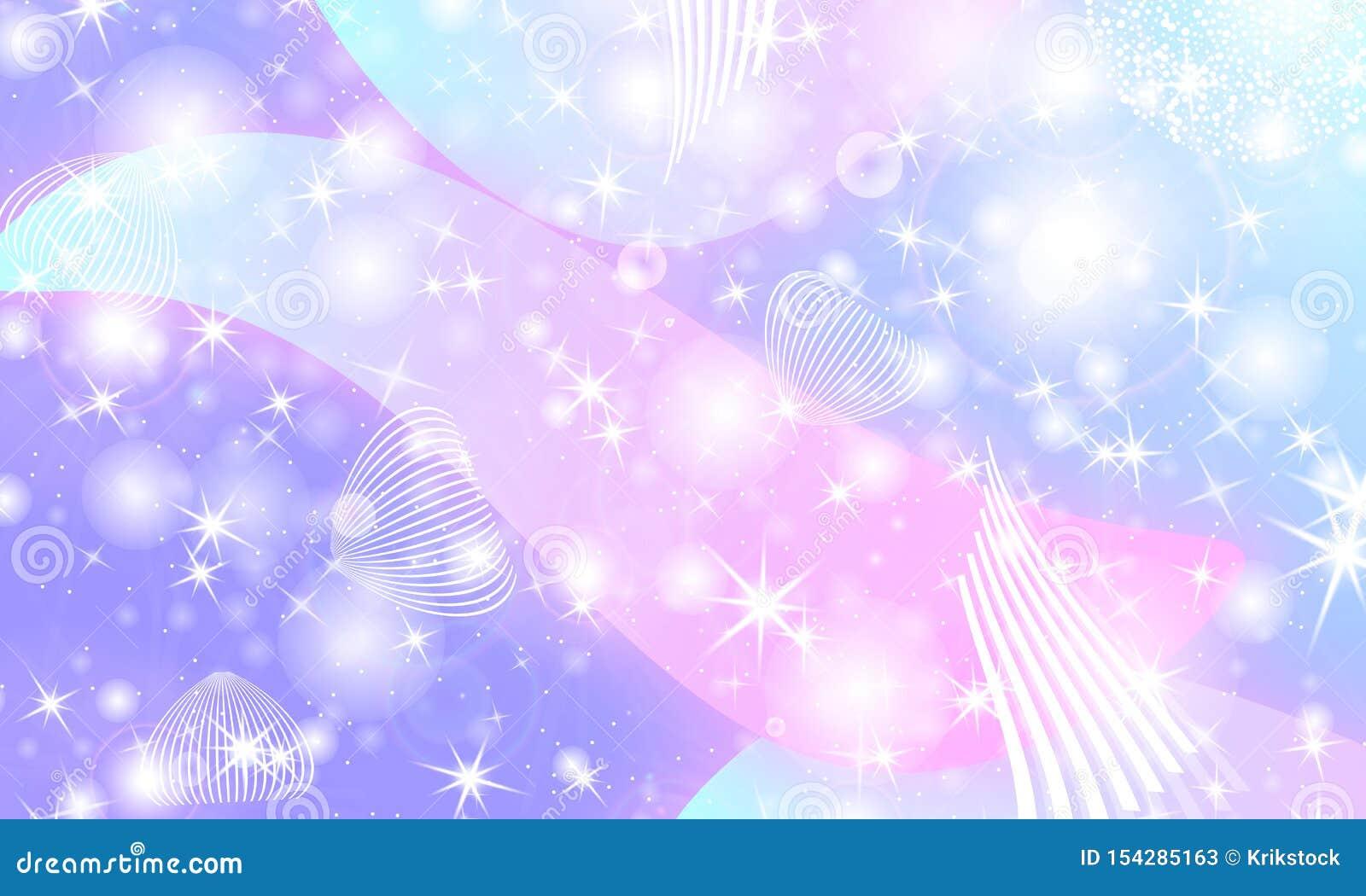 fairy background unicorn pattern princess rainbow galaxy mermaid fantasy stars pastel colors 154285163