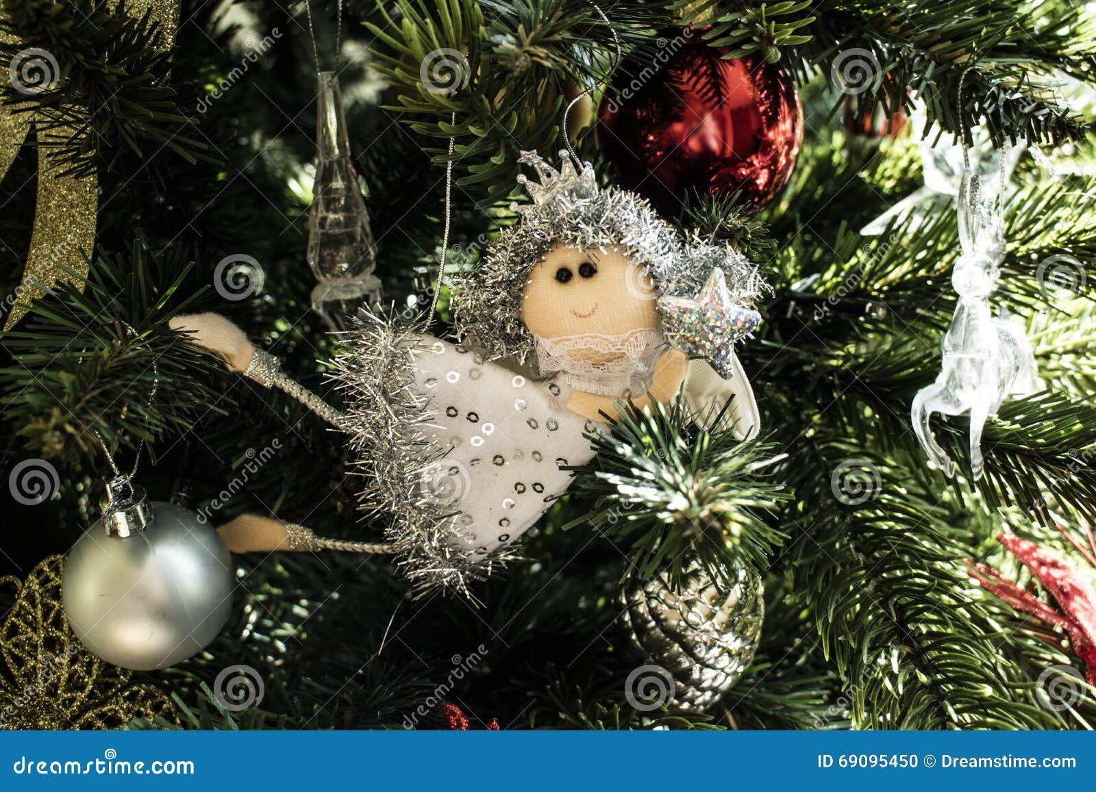 Marvelous Fairy On Christmas Tree Part - 12: A Fairy On The Christmas Tree
