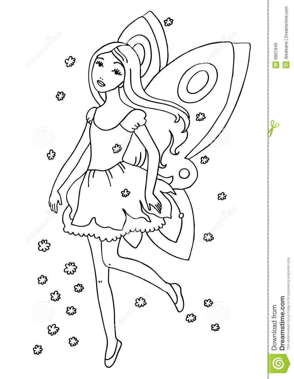 fairy coloring page royalty free stock images image 8801949