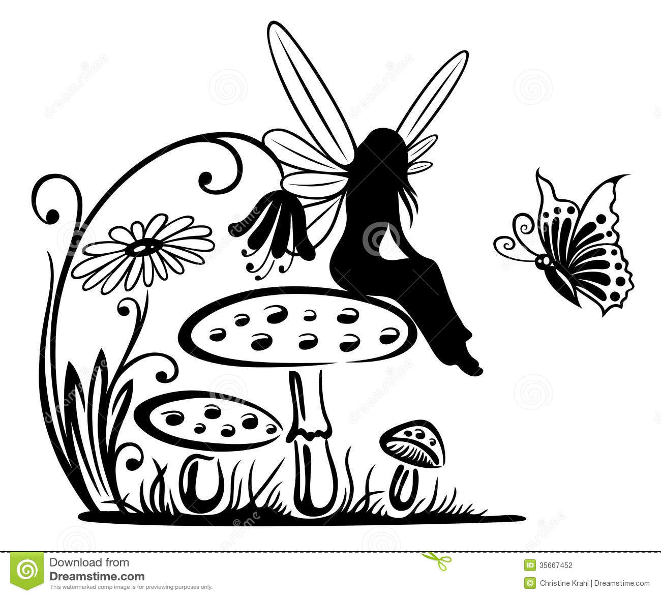 Fairy And Butterfly Stencils : Fairy fantasy stock photography image