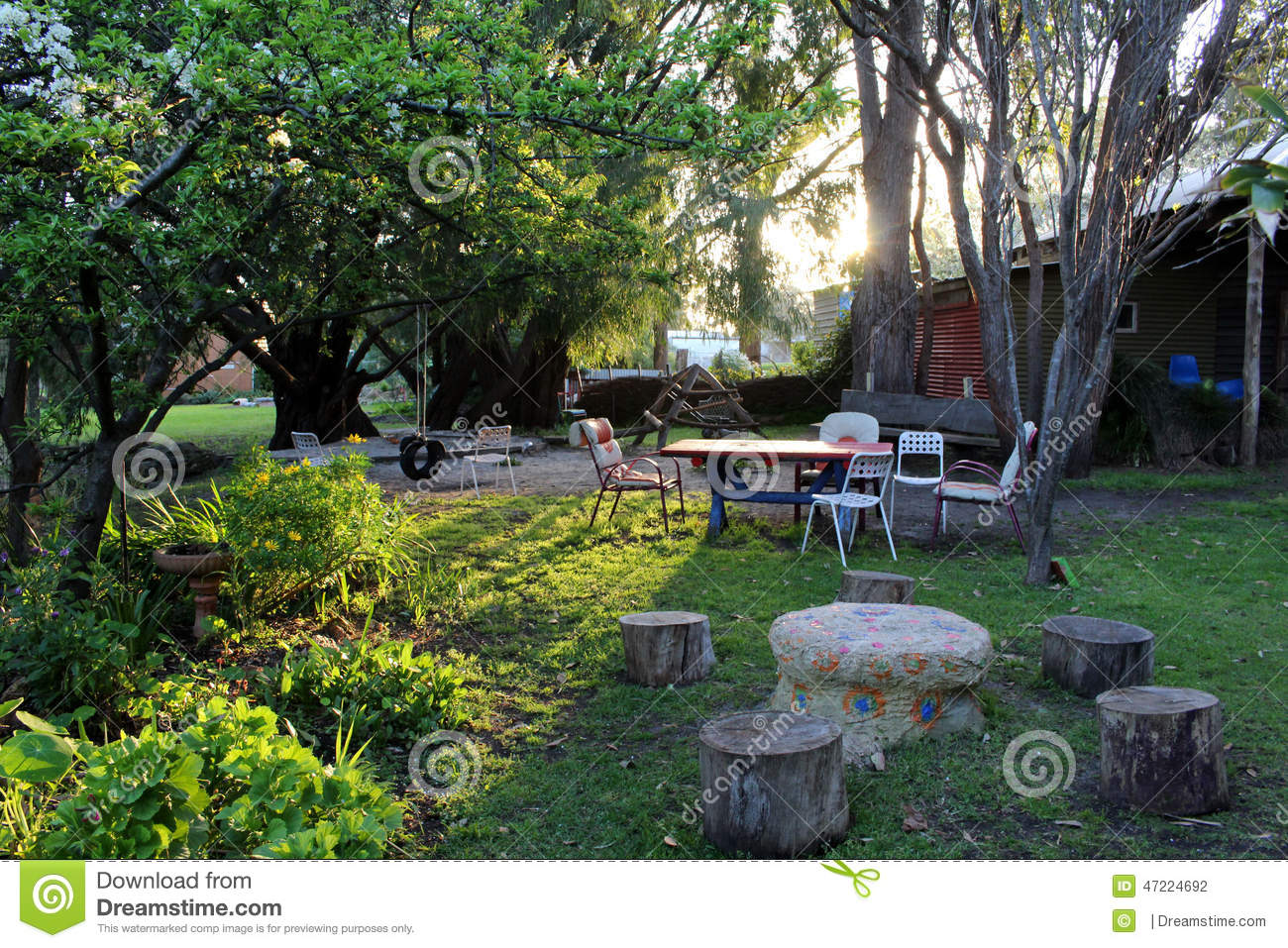 fairy garden stock photo image 47224692