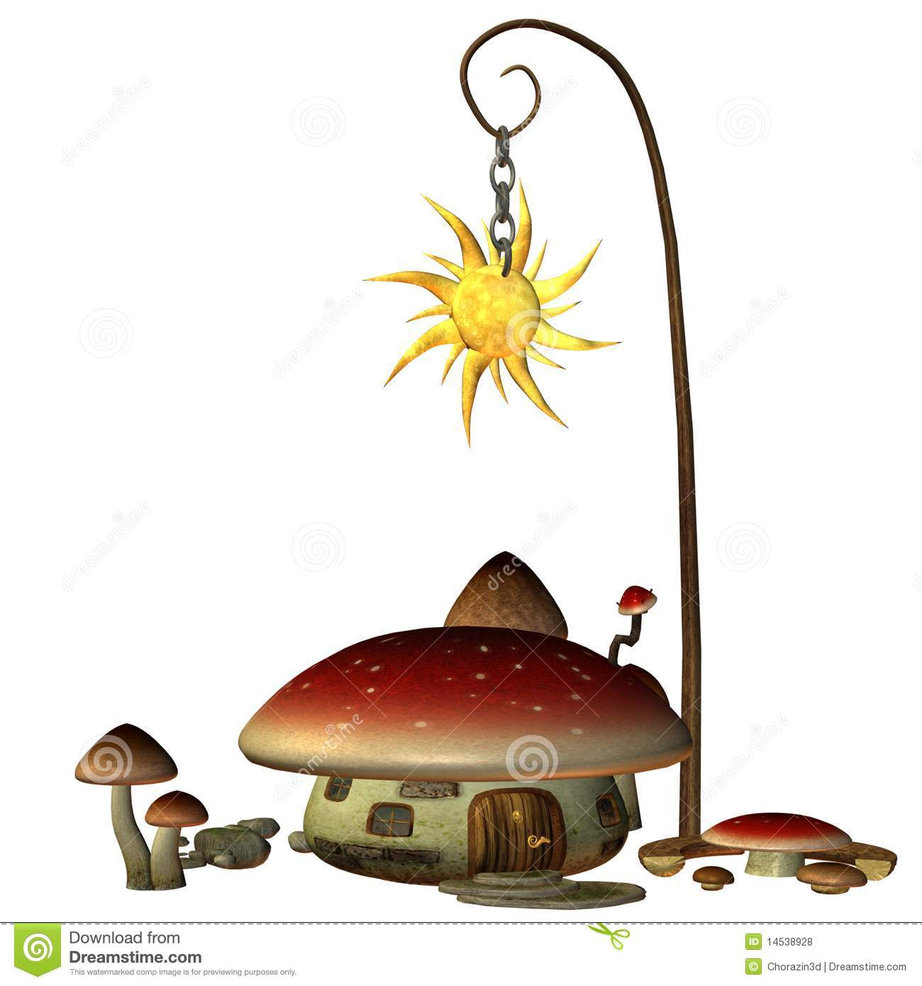 Download Fairy house 1 stock illustration. Illustration of building - 14538928