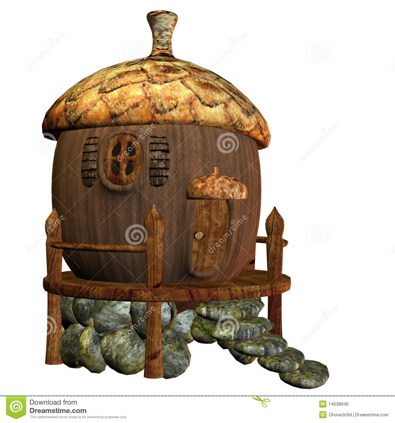 fairy house 3 royalty free stock images image 14538949. Black Bedroom Furniture Sets. Home Design Ideas