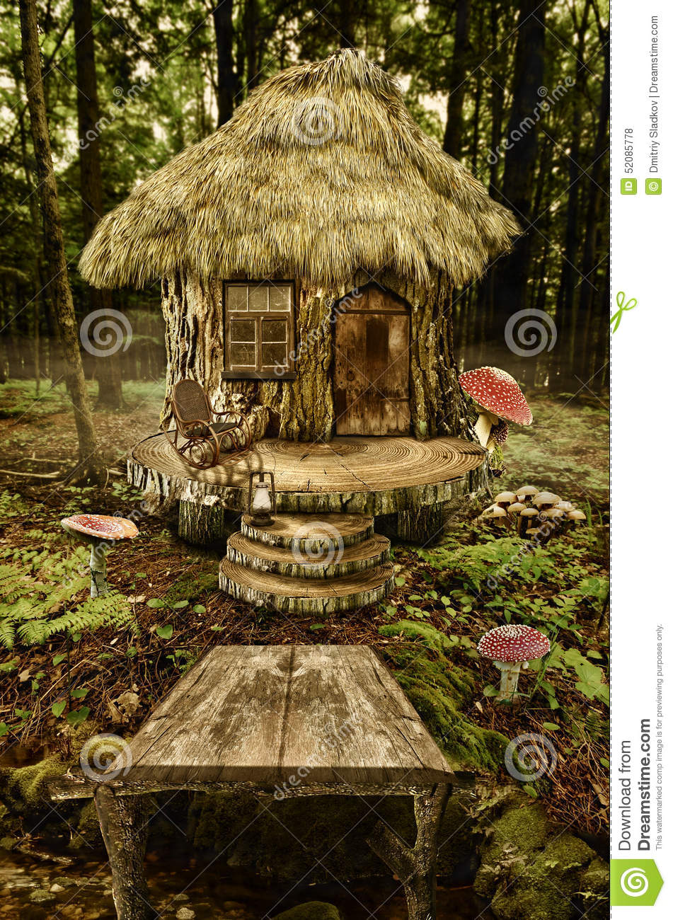 Fairy House Stump Stock Illustration Image 52085778