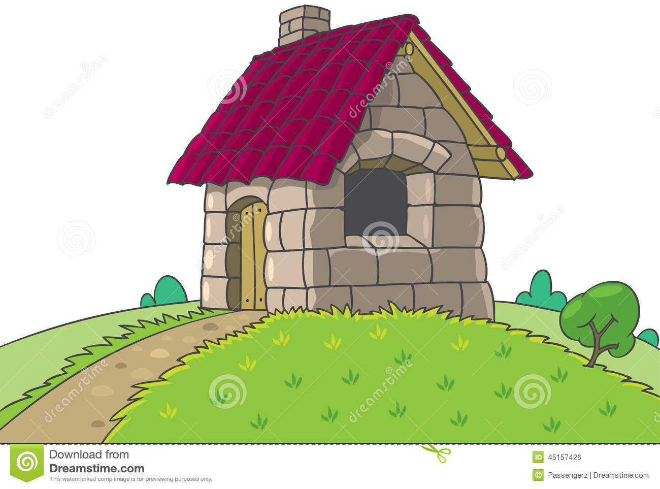 Fairy House From Three Little Pigs Tale Illustration 45157426