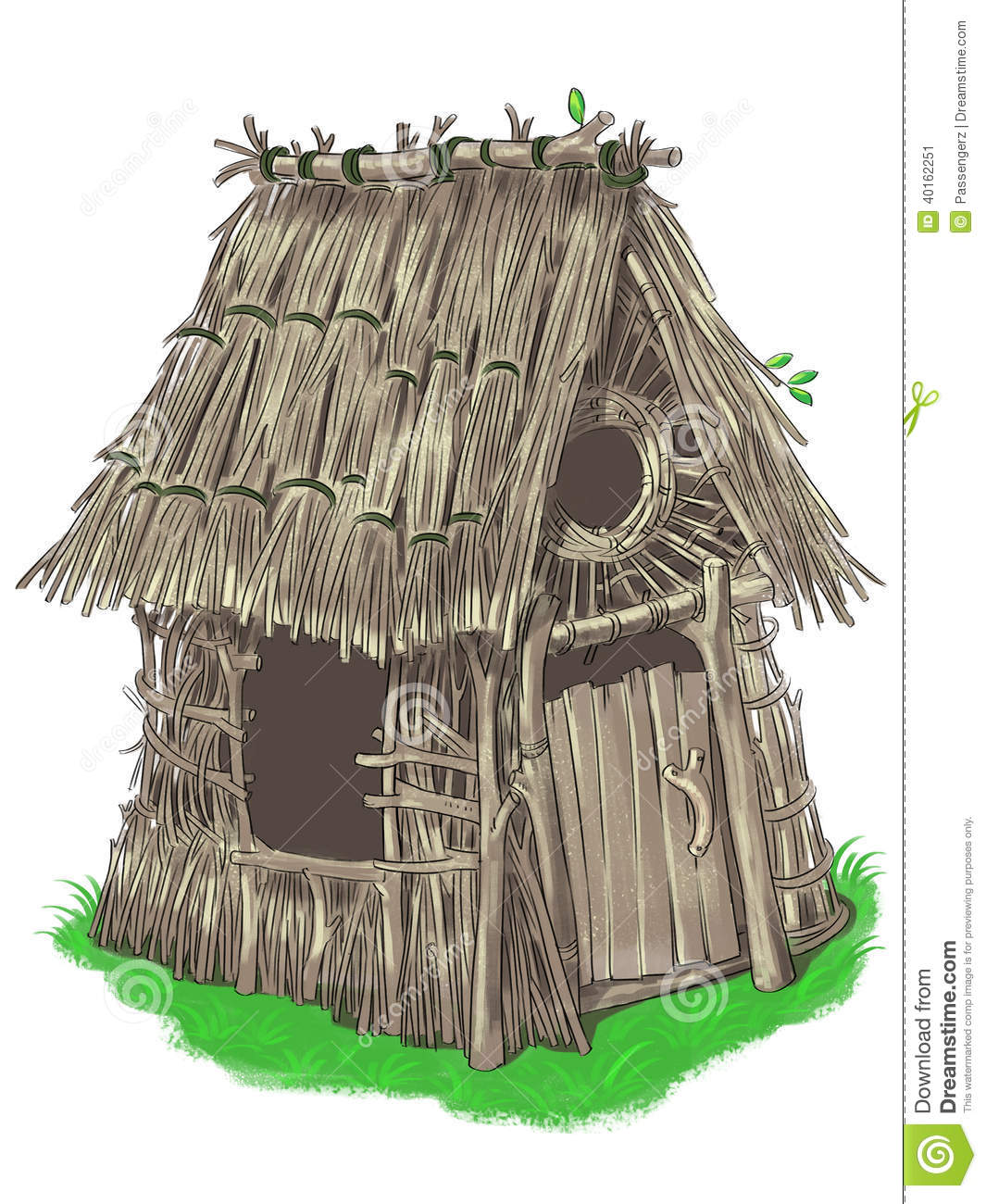 Fairy House From Three Little Pigs Fairy Tale Stock Illustration ...
