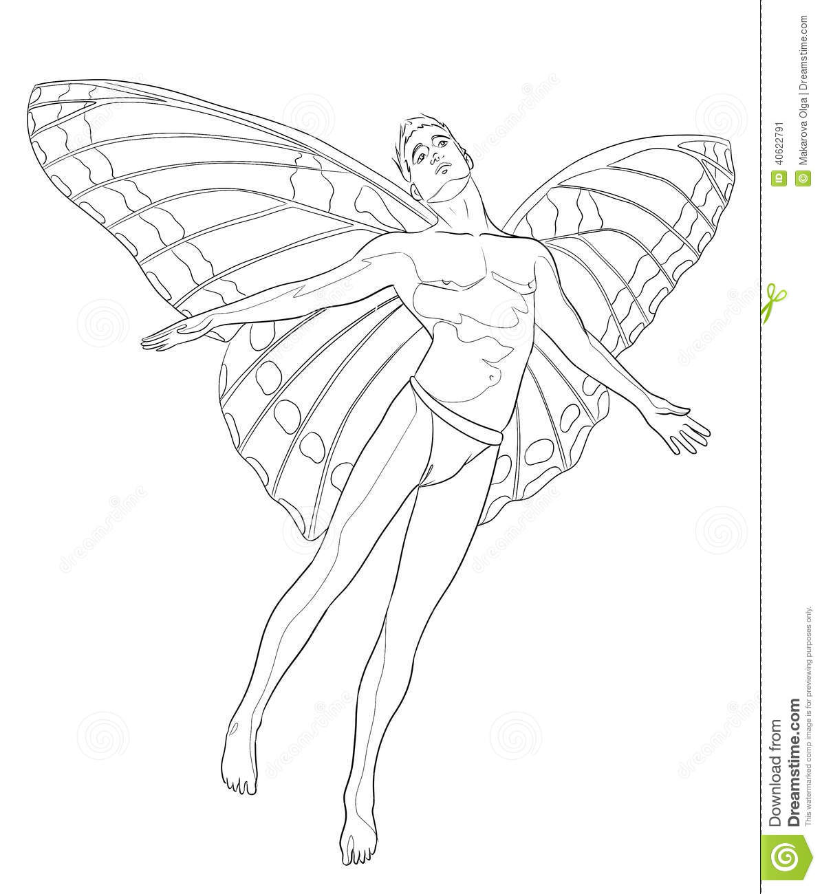 Royalty Free Stock Photo Download Fairy Man Coloring Page