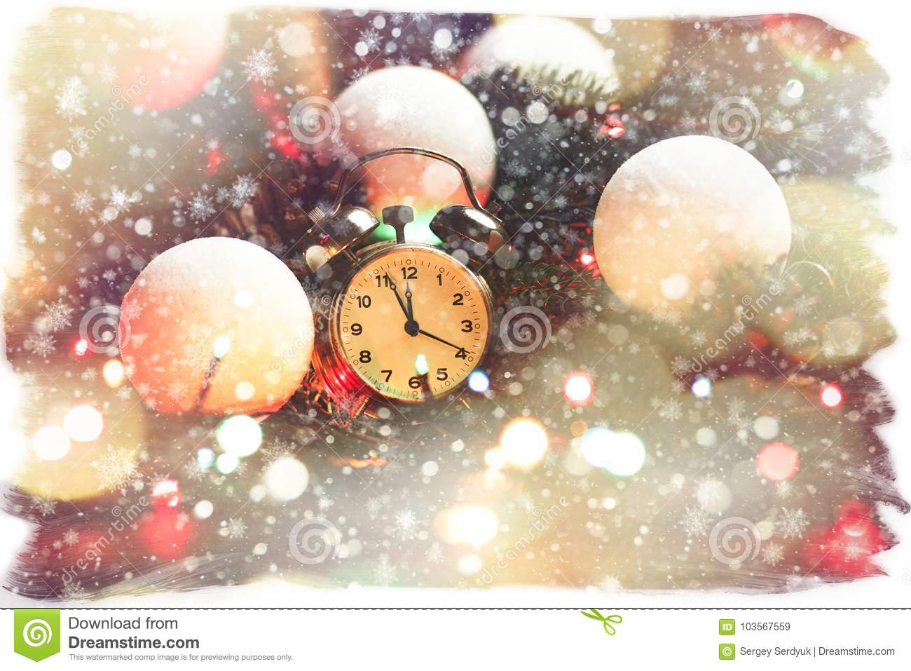 download fairy tail christmas composition postcard card for the new year stock image image
