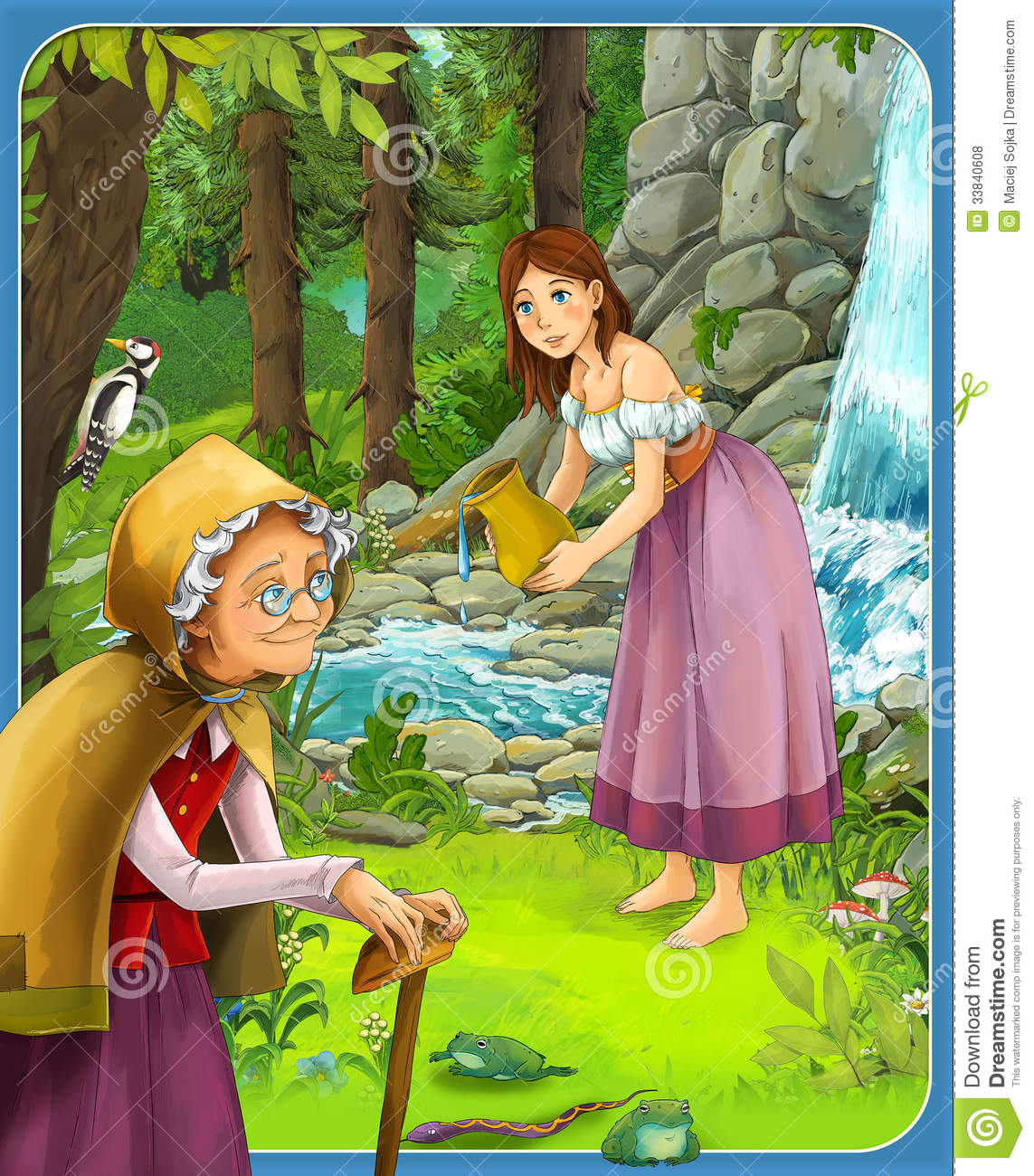 The fairy tale beautiful manga style illustration for - Fotos tale mporaines ...