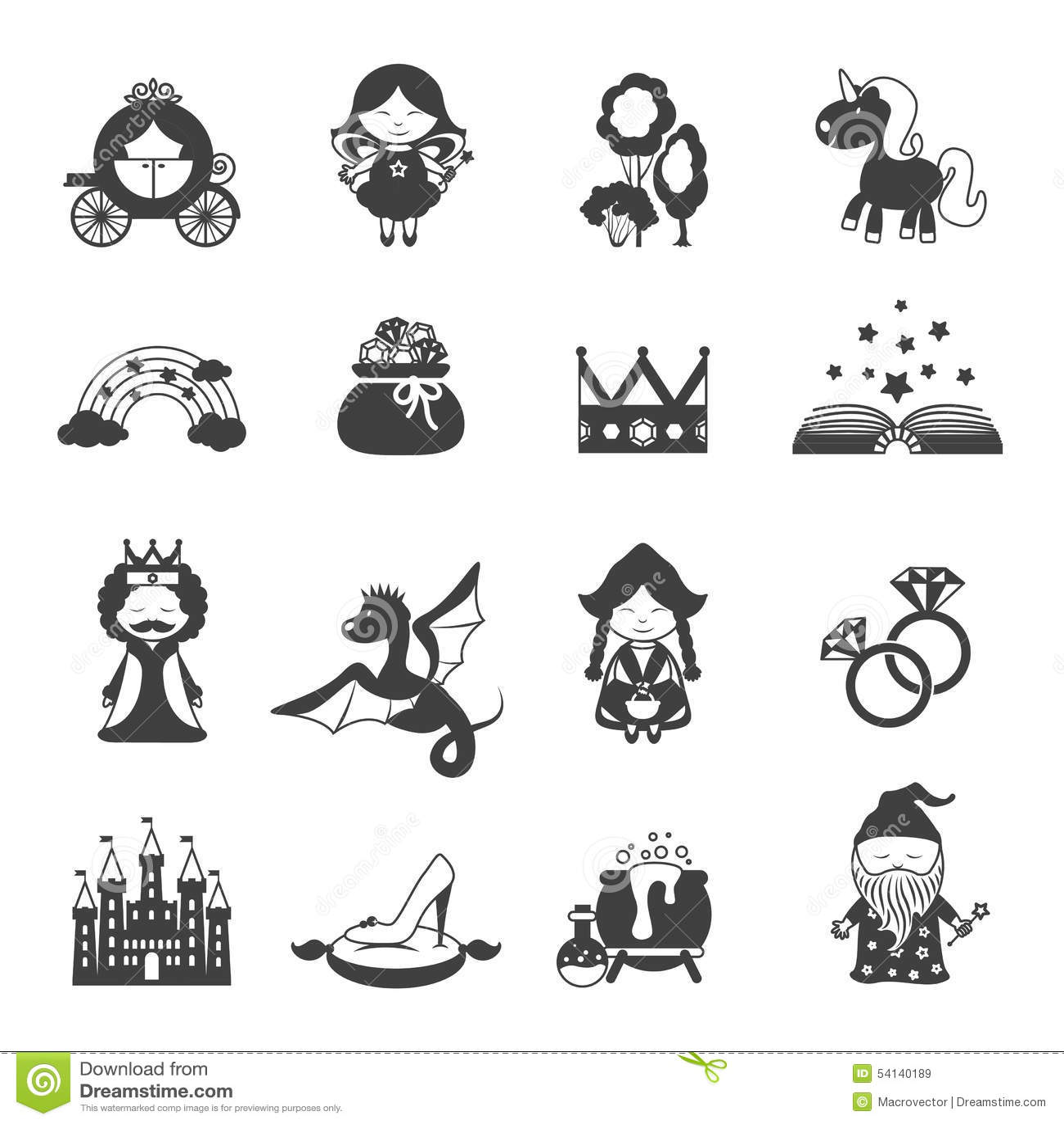 Fairy tale black set stock vector illustration of girl 54140189 fairy tale black set buycottarizona