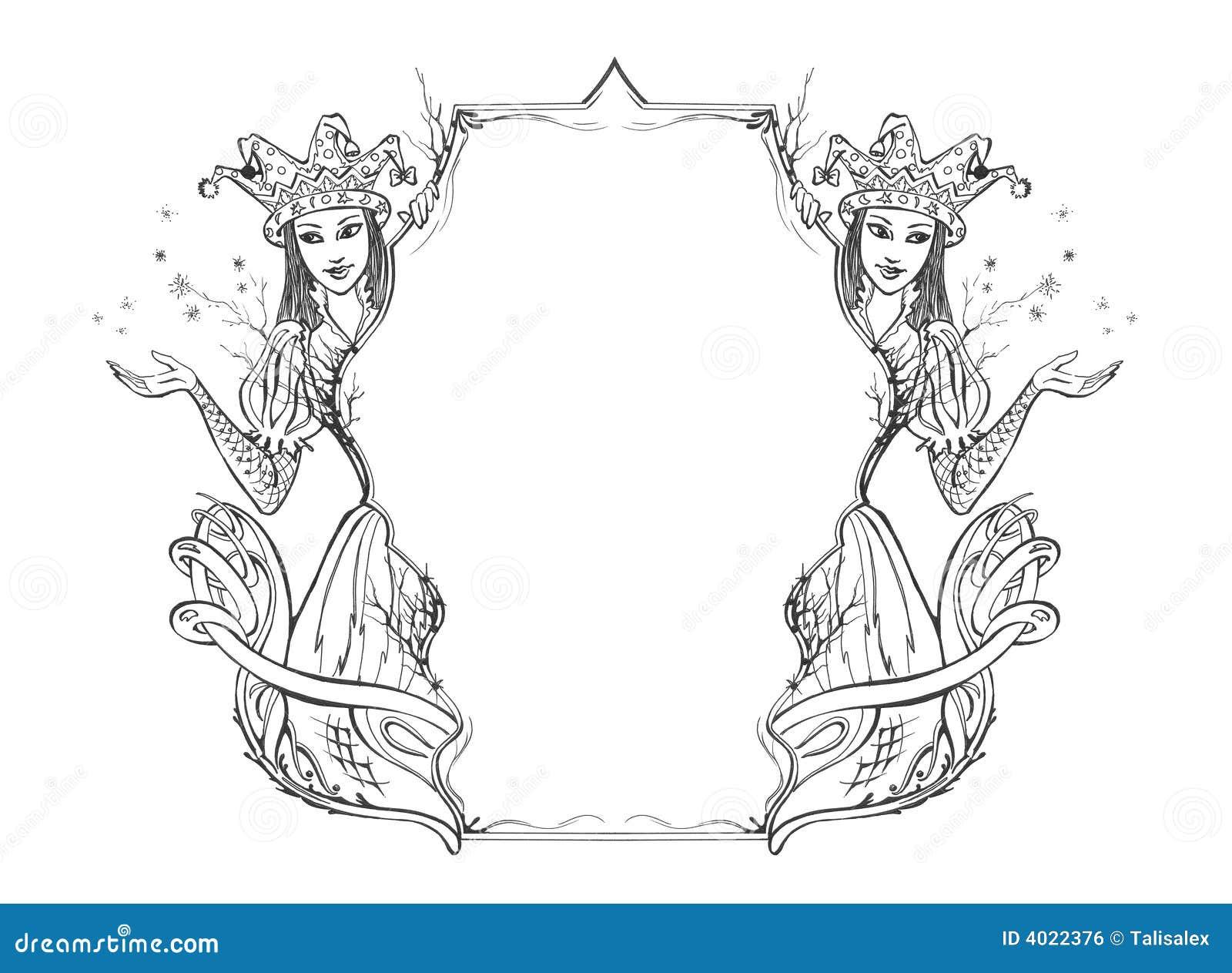 Fairy Tale Border Stock Illustration Image Of Enchantress