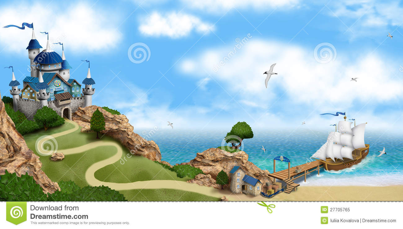 Fairy Tale Castle On The Rock Royalty Free Stock Photo