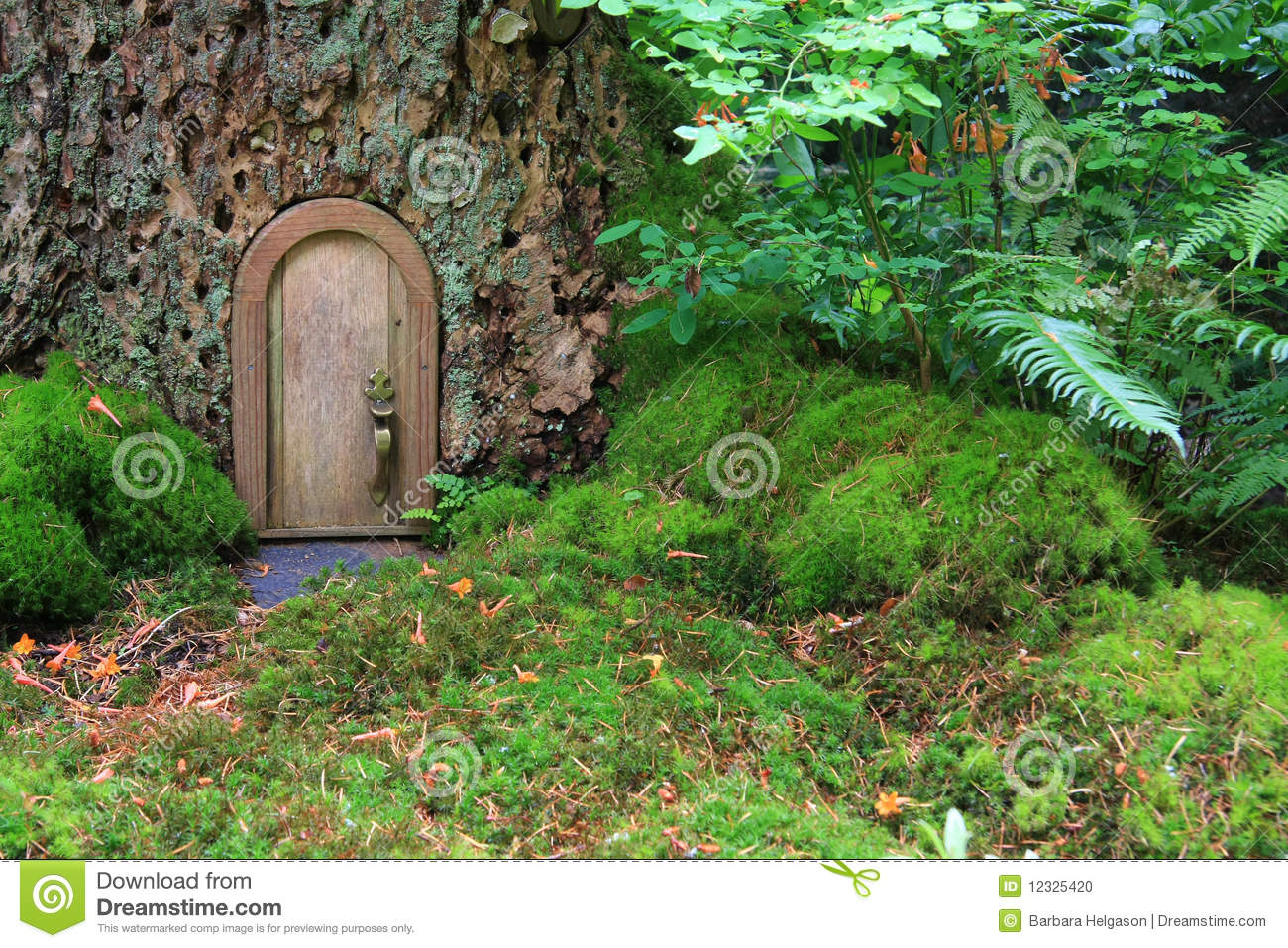 Fairy tale house stock photo image of entrance door for Casitas de jardin infantiles