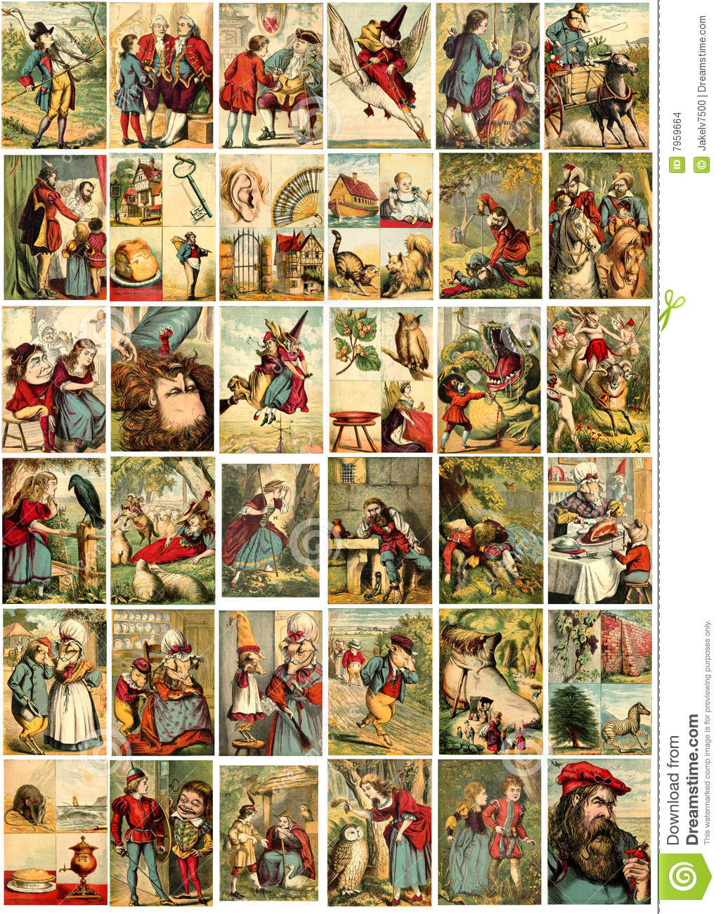 Fairy Tale Illustrations Stock Images Image 7959664